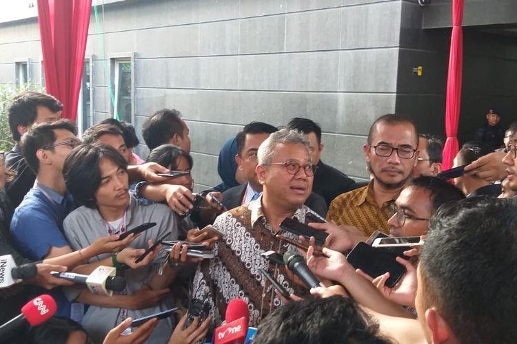 Foto Ketua KPU Arief Budiman di Gedung MK, Jakarta Pusat, Rabu (12/6/2019).
