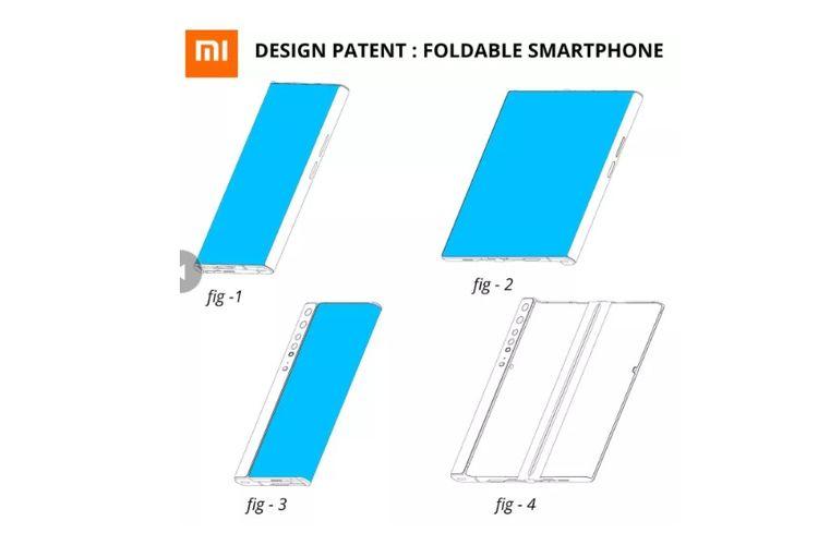 Paten ponsel lipat Xiaomi