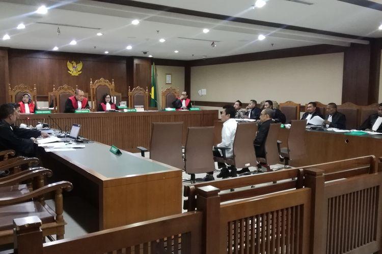 Sidang pemeriksaan saksi untuk terdakwa asisten pribadi mantan Menpora Imam Nahrawi, Miftahul Ulum