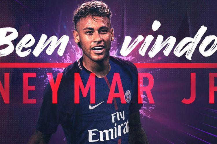 Paris Saint-Germain mengumumkan peresmian transfer Neymar, Kamis (3/8/2017)