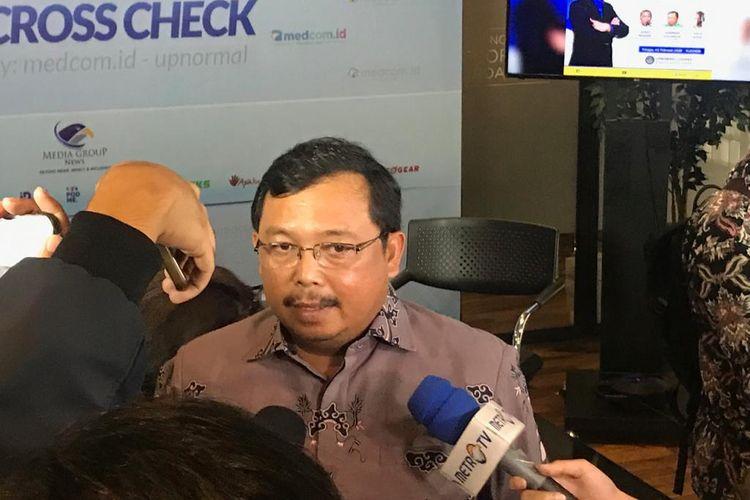 Ketua DPP Partai Demokrat Herman Khaeron dalam acara diskusi di Warung Upnormal, Jakarta Pusat, Minggu (2/2/2020).