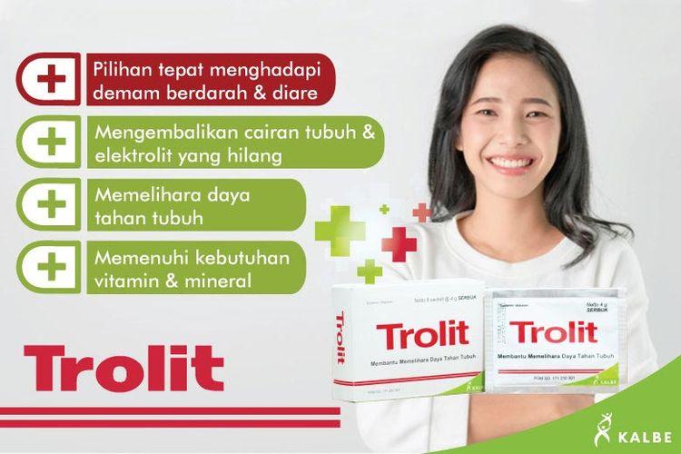 Beragam manfaat Trolit, serbuk elektrolit dari Kalbe.