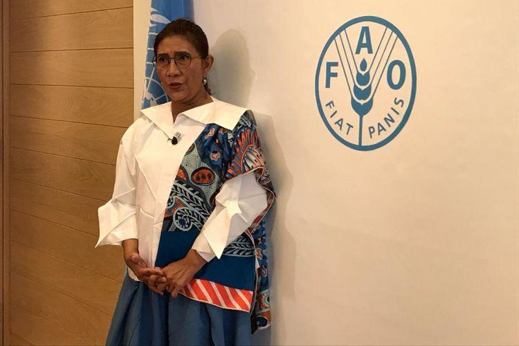 Menteri Susi Pudjiastuti di Kantor Pusat FAO di Roma, Italia, Selasa (5/6/2018).