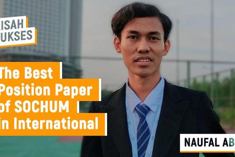 Salah satu mahasiswa Universitas Nusa Mandiri (UNM) program studi (prodi) Sistem Informasi, Fakultas Teknologi Informasi (FTI) Naufal Abdullah.