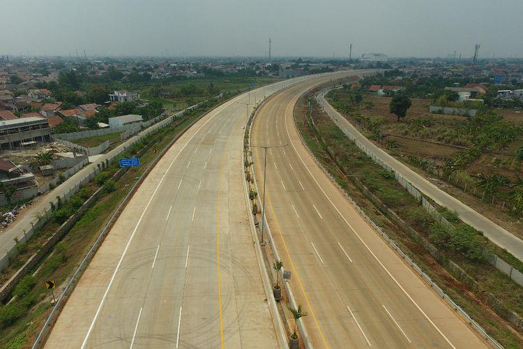 Pekerjaan fisik Jalan Tol JORR 2 Ruas Kunciran-Serpong telah selesai 100% sejak tanggal 30 September 2019.