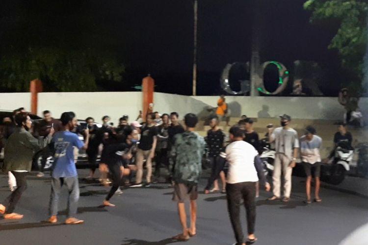 Balapan lari di Jalan Tri Lomba Juang, Mugas Sari, Semarang Selatan pada Sabtu (12/9/2020) pukul. 22.00 WIB.