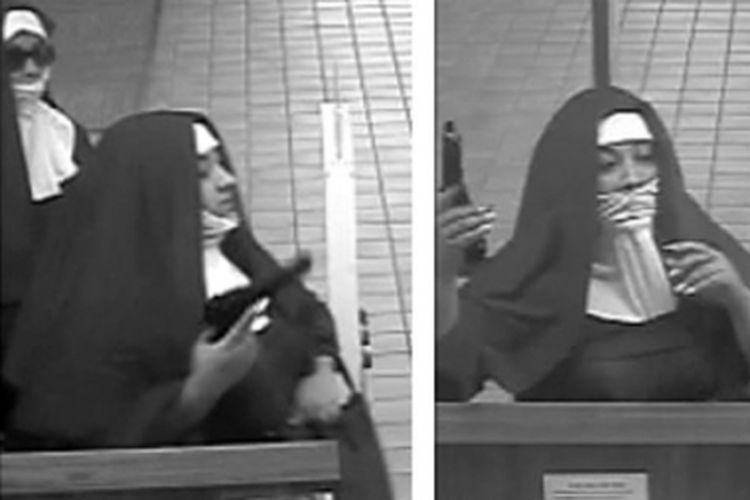 Dua orang perempuan menyamar menjadi biarawati dan merampok sejumlah bank di AS. (FBI Philadelphia/Twitter)