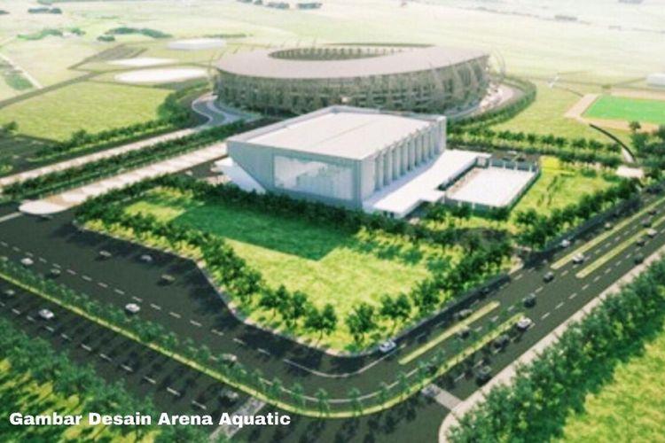 Arena Aquatic yang akan digunakan pada Pekan Olahraga Nasional (PON) XX di Provinsi Papua tahun 2020.
