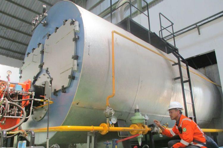 PGN mulai menyalurkan gas bumi (gas in) ke pabrik infus milik PT Emjebe Pharma di Pasuruan, Jawa Timur, sejak Kamis (3/5/2018).