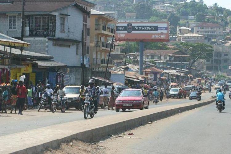 Salah satu sudut kota Freetown, ibu kota Sierra Leone.