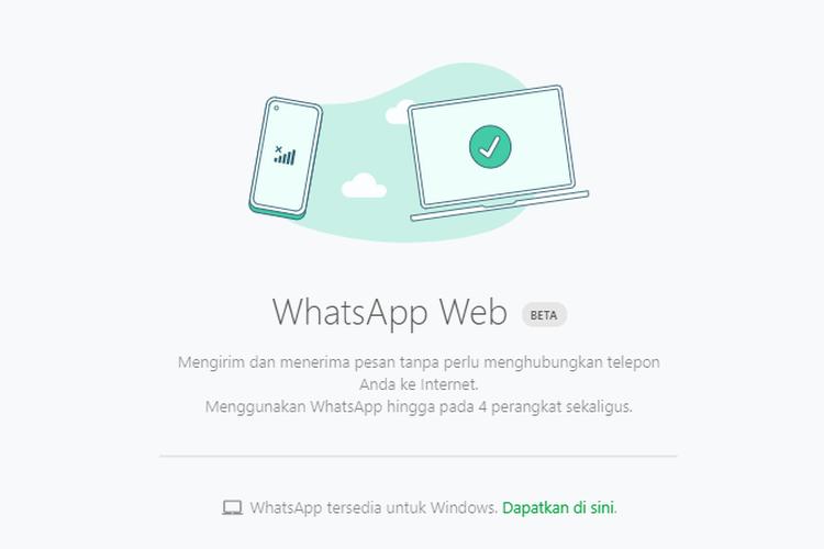 WhatsApp Web kini tak perlu terhubung ke internet