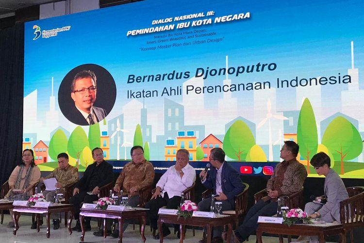 Diskusi soal pemindahan ibu kota yang diselenggarakan Bappenas di Jakarta, Kamis (1/8/2019).