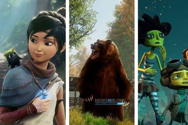 Ilustrasi deretan game yang akan dirilis pada Agustus 2021.