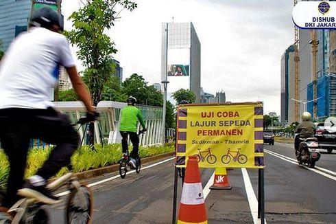 Jakarta Buat Tugu Sepeda Rp 800 Juta, tapi Progres Jalur Permanen Justru Molor