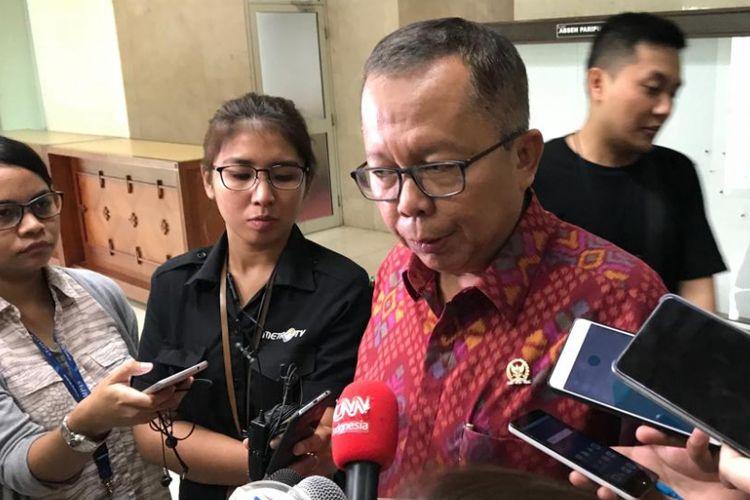 Sekjen Partai Persatuan Pembangunan (PPP) Arsul Sani di Kompleks Parlemen, Senayan, Jakarta, Senin (23/7/2018).