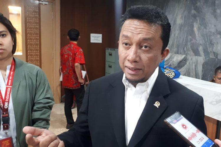 Ketua Fraksi Partai Keadilan Sejahtera (PKS) Tifatul Sembiring di Kompleks Parlemen, Senayan, Jakarta, Kamis (3/10/2019).