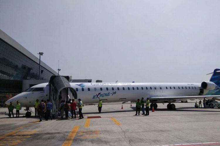 Penerbangan perdana Jakarta - Banyuwangi.