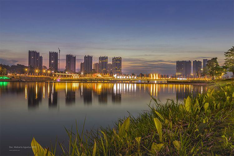 Pemandangan kota Meikarta saat menjelang malam (Dok. Meikarta)
