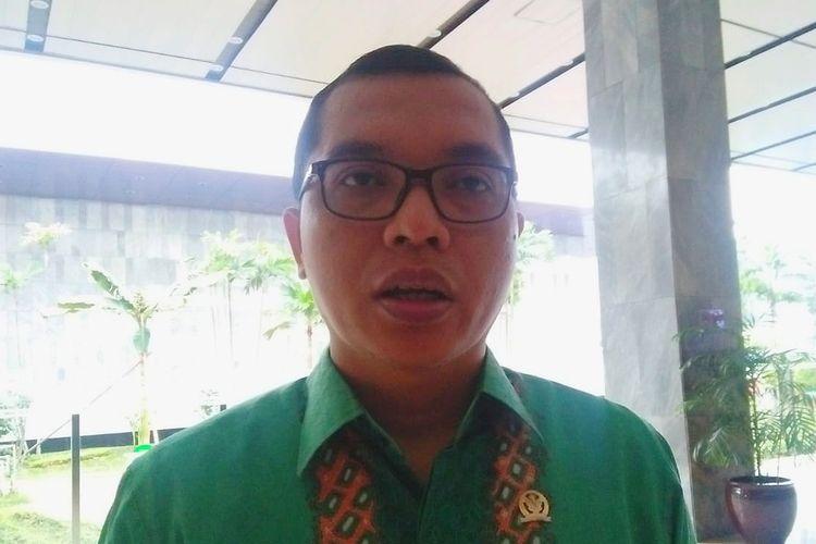 Wakil Sekretaris Jenderal PPP Achmad Baidowi di Kompleks Parlemen, Senayan, Jakarta, Senin (28/10/2019).