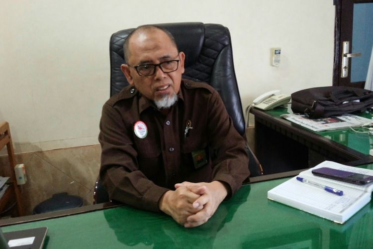 Muslim, Ketua Pengadilan Negeri Mojokerto Jawa Timur, saat ditemui di kantornya, Senin (26/8/2019).
