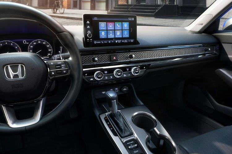 Desain dasbor Honda Civic generasi terbaru.