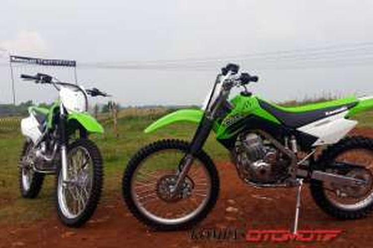 Kawasaki KLX dijual tanpa bisa dibuatkan STNK seharga Rp 35,9 juta.