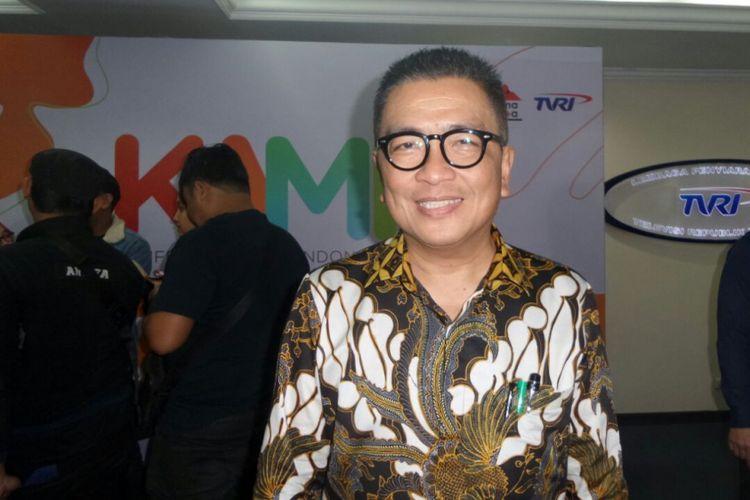 Helmy Yahya di Gedung TVRI, Senayan, Jakarta Pusat, Rabu (14/2/2018).