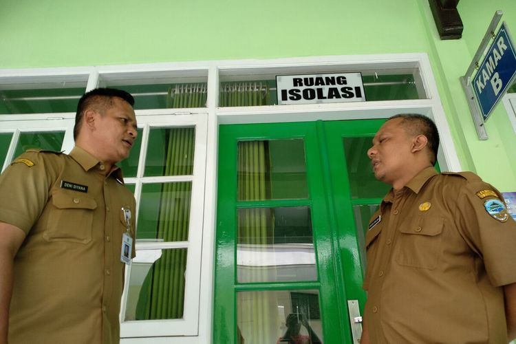Euang isolasi khusus corona di RSUD Soekardjo Kota Tasikmalaya ditambah menjadi dua ruangan, Senin (16/3/2020).