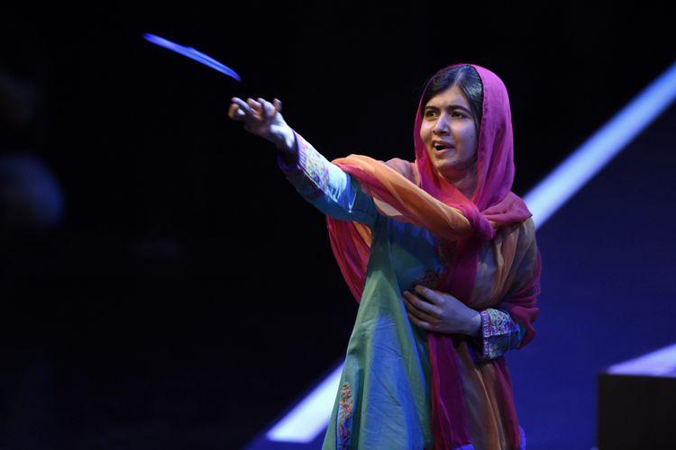 Peraih Nobel pada 2014 Malala Yousafzai berada di Mexico City, Meksiko, 1 September 2017. (AFP/Alfredo Estrella)