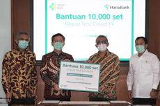 Bank KEB Hana Sumbang 10.000 Unit Rapid Test ke Kemenkes