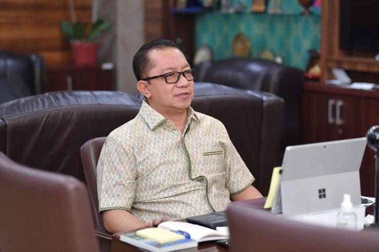 Sekretaris Jenderal Kementerian Desa, Pembangunan Daerah Tertinggal dan Trasmigrasi (Kemendesa PDTT) Taufik Madjid membuka Webinar Pencegahan dan Penanggulangan Covid-19 di lingkungan Kemendesa PDTT, Jakarta, Sabtu (10/7/2021).