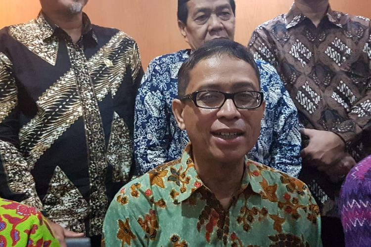 Cawagub DKI Jakarta Nurmansjah Lubis seusai bertemu anggota Fraksi Golkar DPRD DKI Jakarta di Gedung DPRD DKI, Jalan Kebon Sirih, Jakarta Pusat, Rabu (29/1/2020).