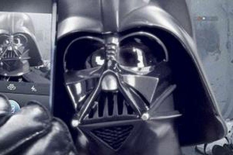 Foto selfie Darth Vader di Instagram