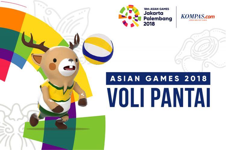Desain Asian Games Voli Pantai