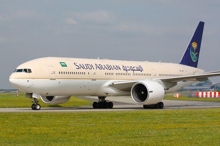 Sebuah pesawat milik maskapai Saudi Arabian Airlines.