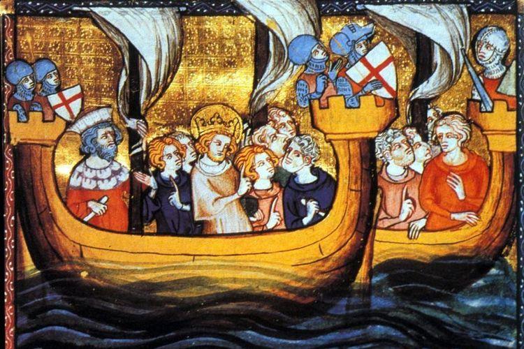 Raja Louis IX dan pasukannya dalam Perang Salib VII.