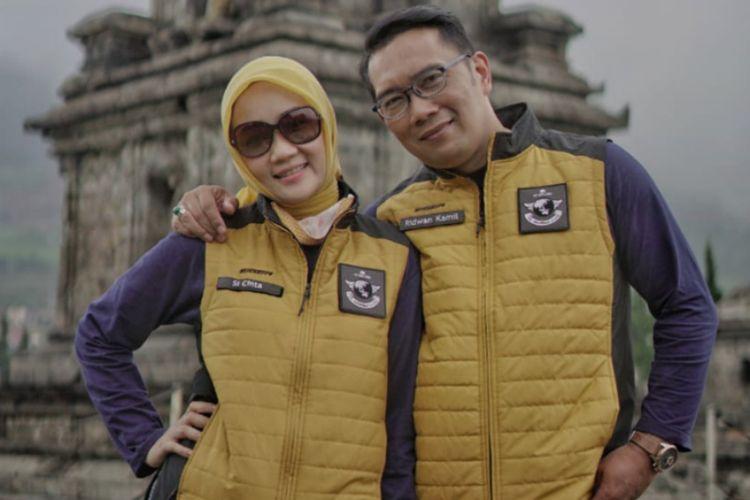 Gubernur Jawa Barat Ridwan Kamil dan istrinya Atalia Praratya.