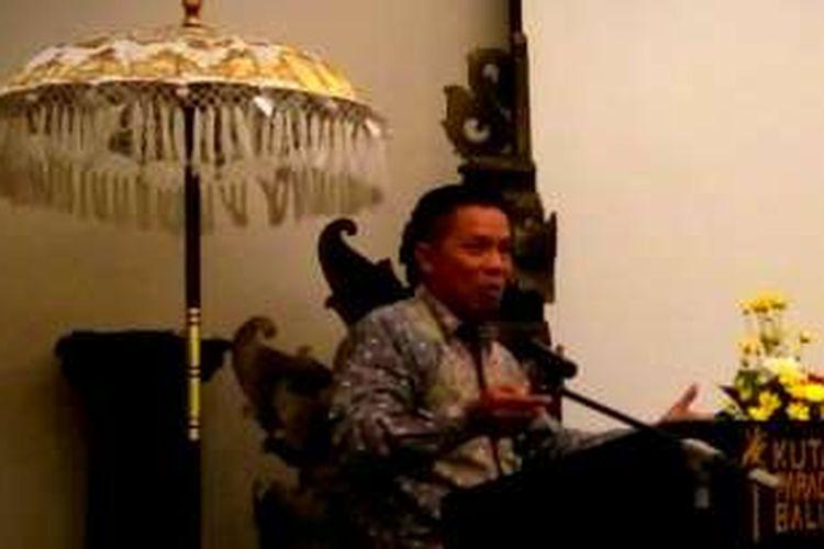 Hamidin, Direktur Pencegahan, BNPT saat paparan Focus Group Discussion, Kuta, Badung, Bali, Selasa (6/9/2026)