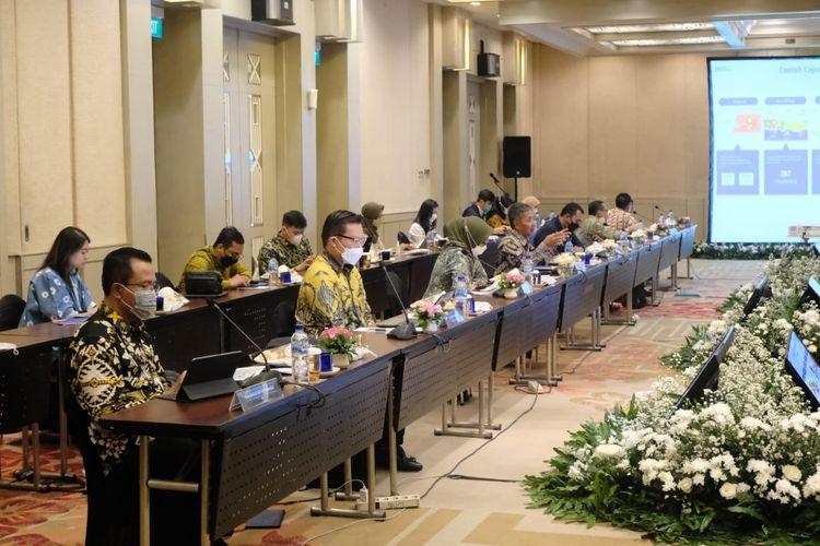 Komisi VI DPR RI saat melakukan kunjungan kerja (kunker) ke Bandung, Jawa Barat (Jabar) Kamis, (10/6/2021).