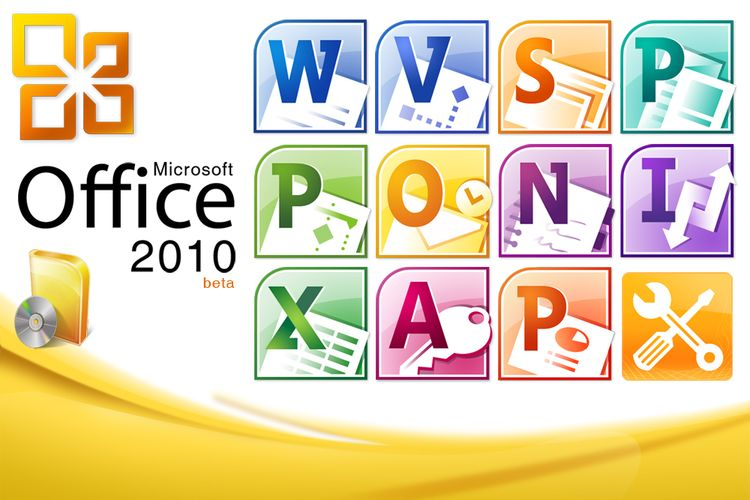 Ilustrasi aplikasi Microsoft Office 2010.