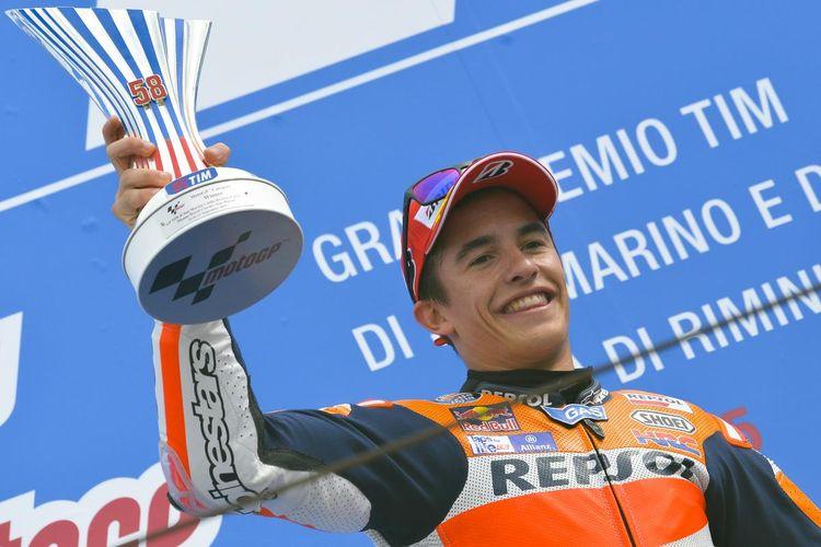 Marc Marquez menang di GP San Marino.
