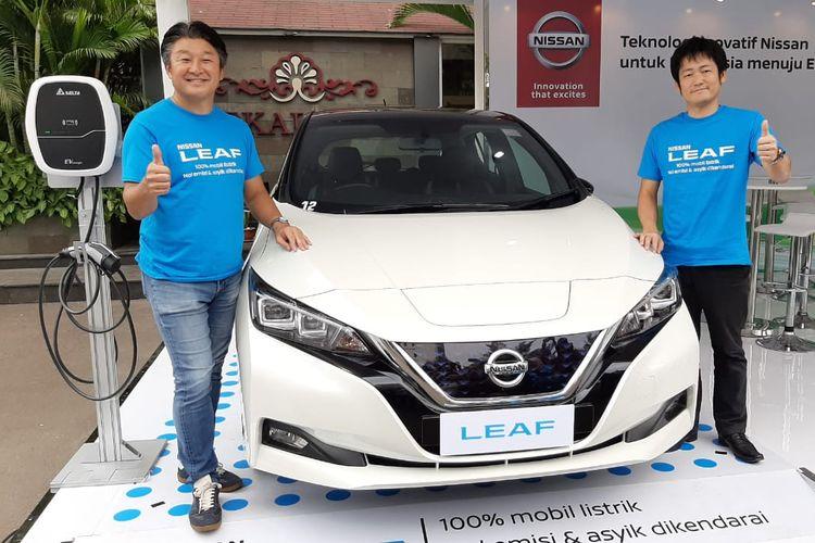 Nissan Leaf dipamerkan di IEMS 2019.