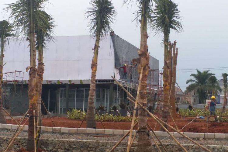 Kondisi Alun-alun Depok, di kawasan Gran Depok City, Cilodong, Depok, Jawa Barat, Rabu (19/12/2018).