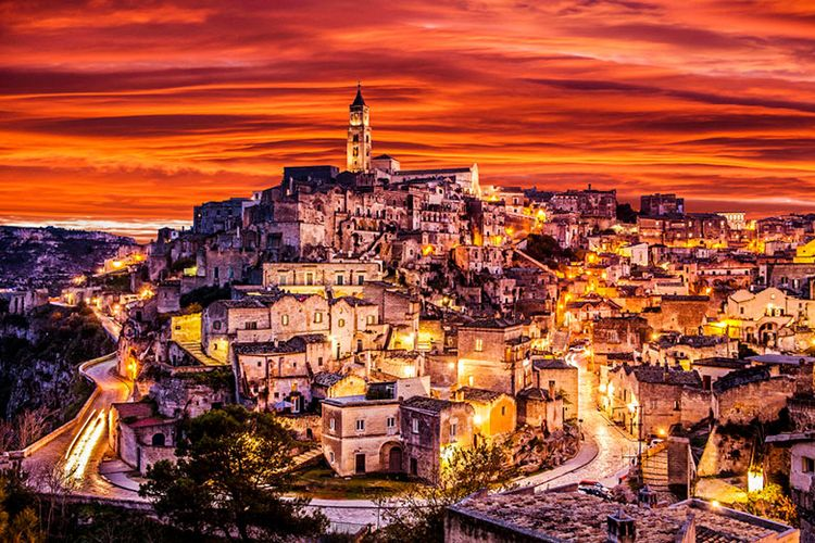 Keindahan Matera di Italia.