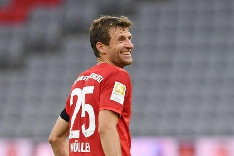 Pemain Bayern Muenchen, Thomas Mueller.