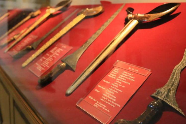 Pusaka keris koleksi Museum Keris Nusantara di Solo, Jawa Tengah, Rabu (27/2/2019).