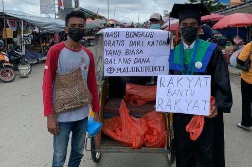 Rakyat Bantu Rakyat, Sairun Bagikan 1.000 Nasi Bungkus di Pasar Saat Rayakan Wisuda