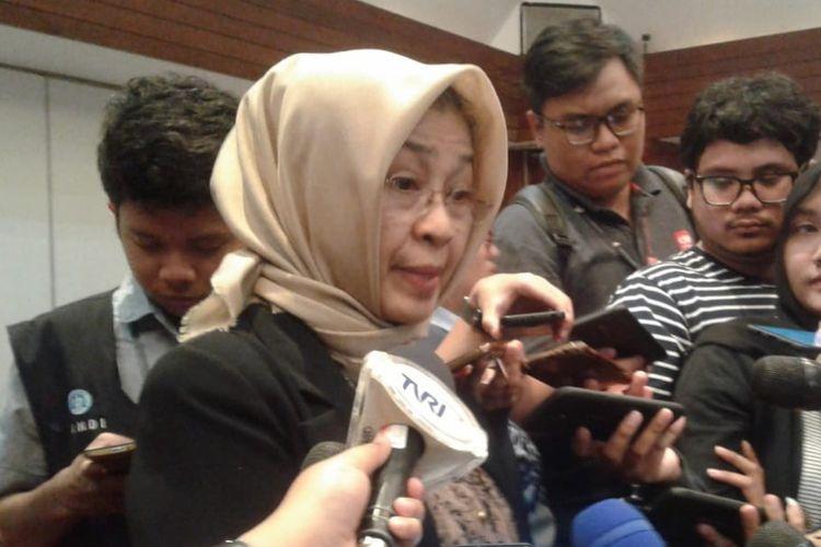 Koordinator panelis debat keempat, Valina Sinka Subekti, saat ditemui di Hotel Sari Pan Pasific, Jakarta Pusat, Rabu (27/3/2019).
