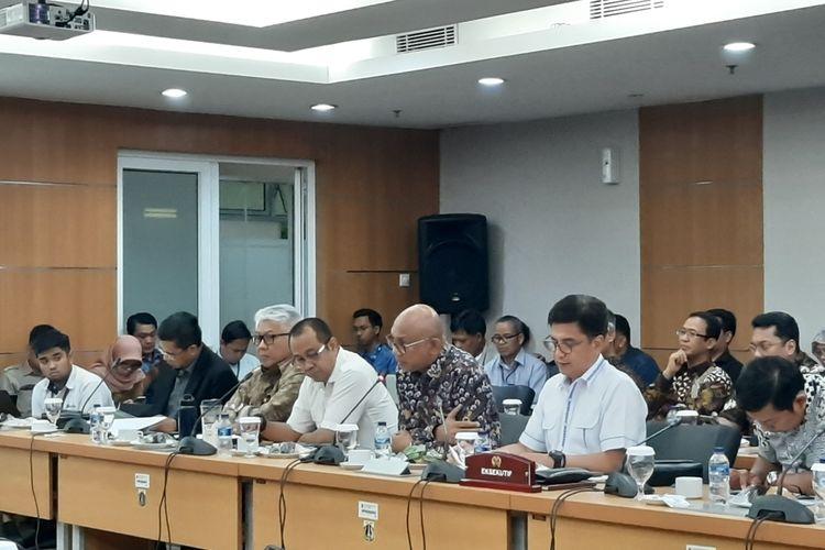 Suasana rapat Komisi B DPRD DKI Jakarta bersama BUMD, di lantai 2 DPRD DKI, Jalan Kebon Sirih, Selasa (5/11/2019)