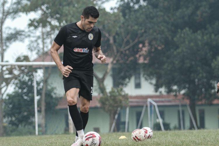 Pemain PS Sleman Fabiano Beltrame dalam persiapan Piala Menpora 2021.